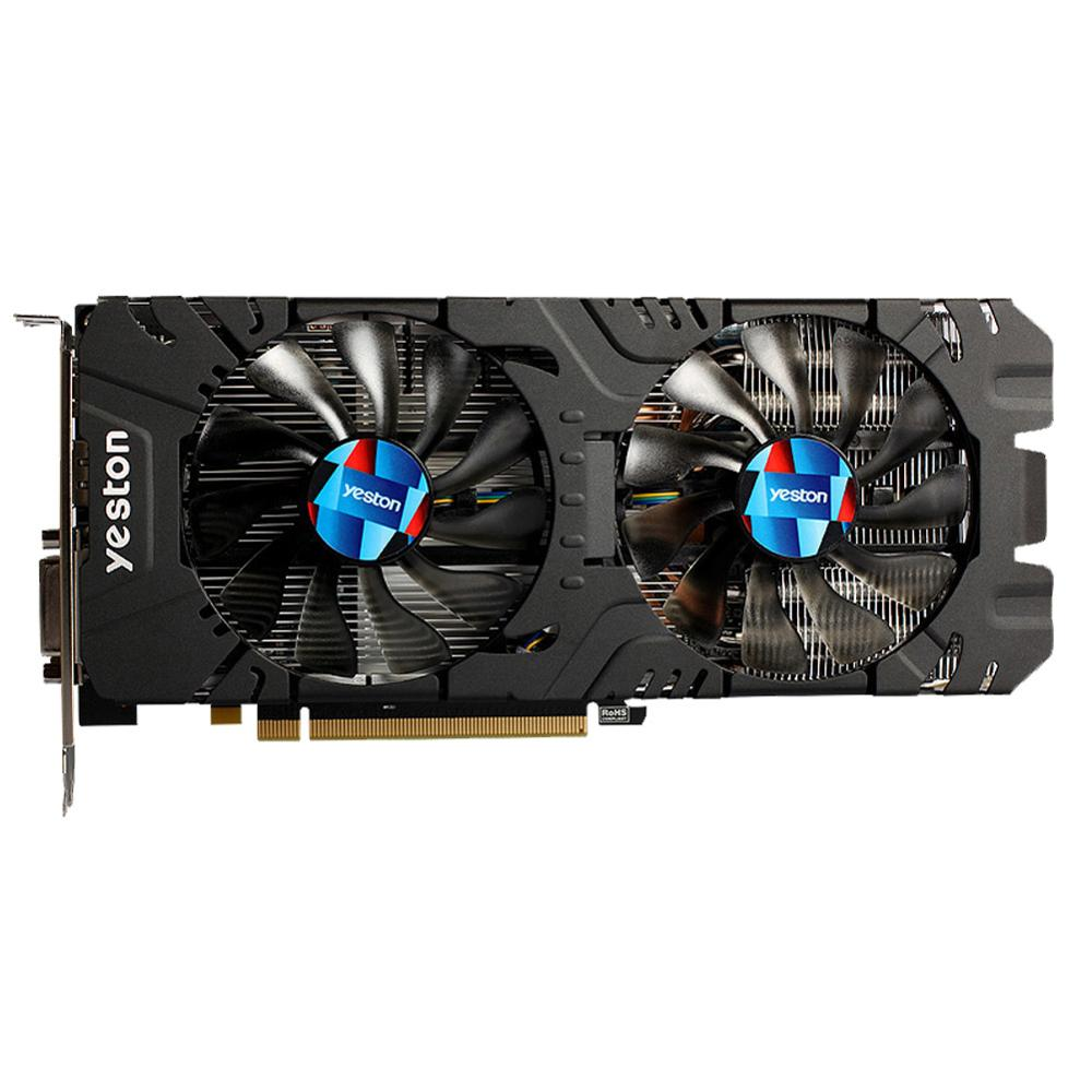 Yeston Radeon RX 580 <font><b>GPU</b></font> <font><b>4GB</b></font> GDDR5 256bit Gaming Desktop computer PC Video Graphics Cards support DVI/HDMI PCI-E X16 3.0 image