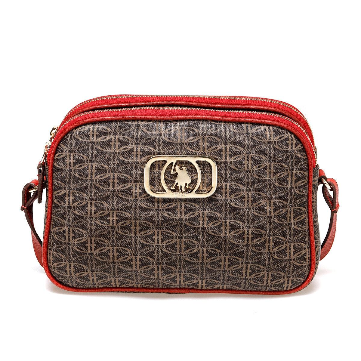 FLO US20071 Brown Women Messenger Bag U.S. POLO ASSN.