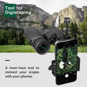 Image 2 - Universal Cell Phone Adapter Clip Mount Binocular Monocular Spotting Scope Telescope Phone Support Eyepiece D: 25 48mm