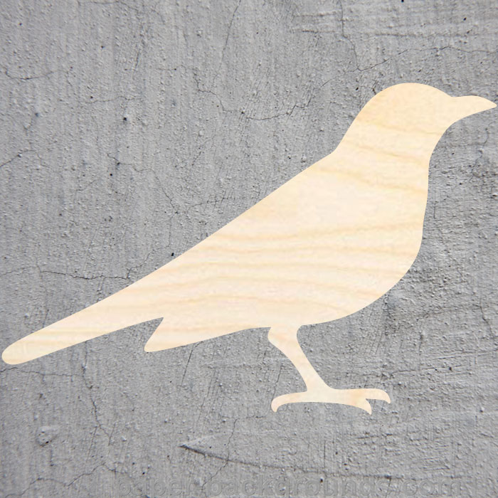 Blackbird  Silhouette Laser Cut Out Wood Shape Craft Supply Unfinished Cut Art Projects Craft Decoration Gift Decoupage Ornament