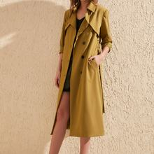 Trendyol Arched Button Closure Long Trench Coat TWOSS20TR000