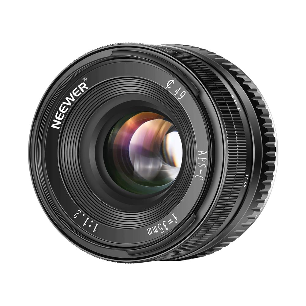 Neewer 35mm F1.2 Large Aperture Prime Aps-c Aluminum Lens For Sony E Mount Mirrorless Cameras A6500 A6300 A6100 A600 A9 Nex 3 3n