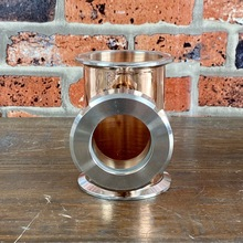 Copper-Tee Distillation-Column Bubble-Plates Moonshine Still for . Part of 4-