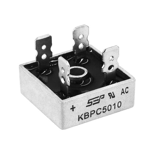 2PCS KBPC5010 5010 50A 1000V דיודה גשר מיישר חדש ומקורי