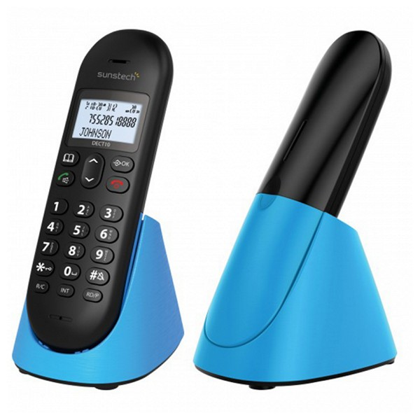 Беспроводной телефон Sunstech DECT10BL DECT 1,5