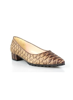 Shoes toe snake leather. Gr