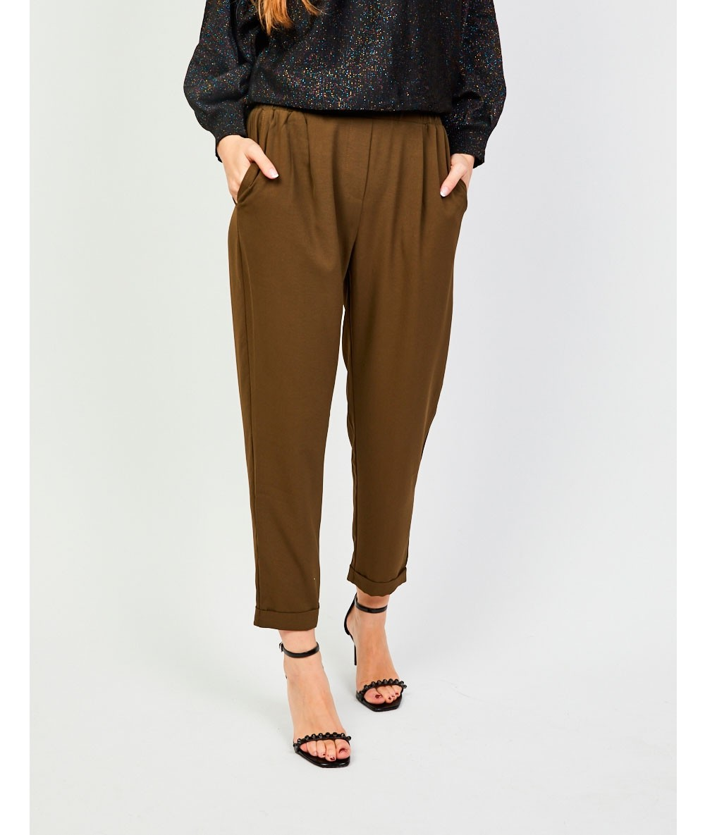 Trousers With Elasticated Waist Tie