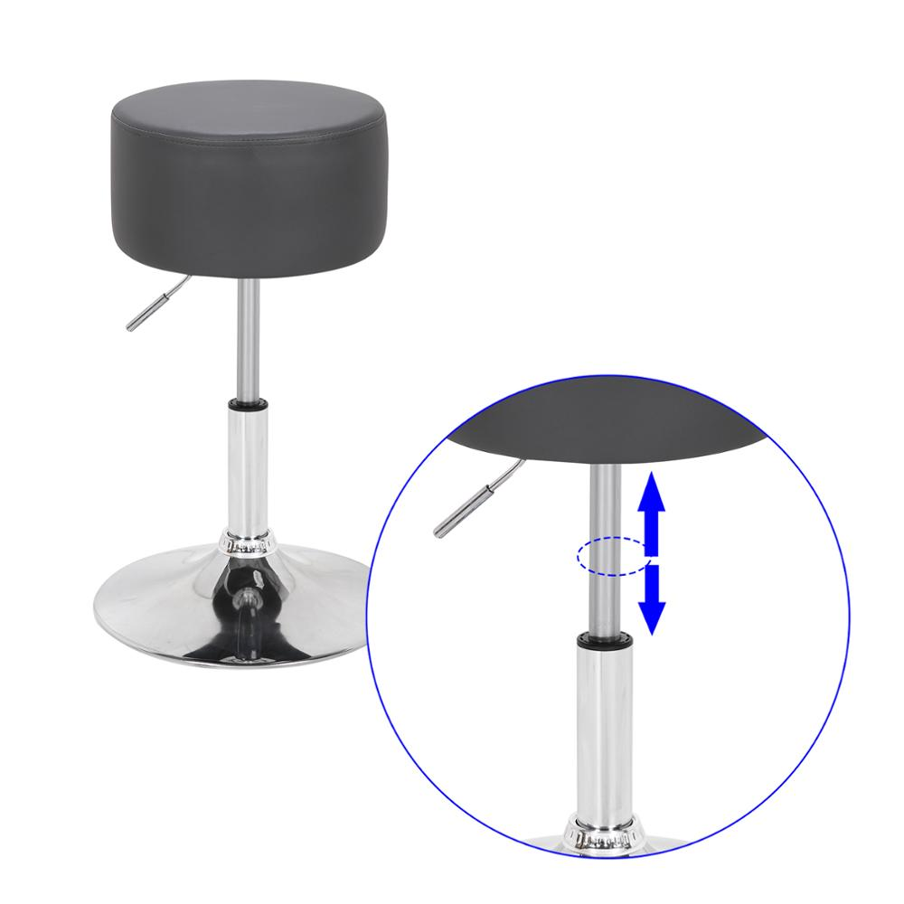 1PC Design Faux Leather Bar Stool Height Adjustable Stool Barber Kitchen Chairs Counter Stool Home Bar Furniture