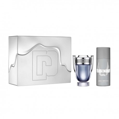 INVICTUS PACO RABANNE 100ML EDT SPRAY 150ML + DEODORANT SPRAY