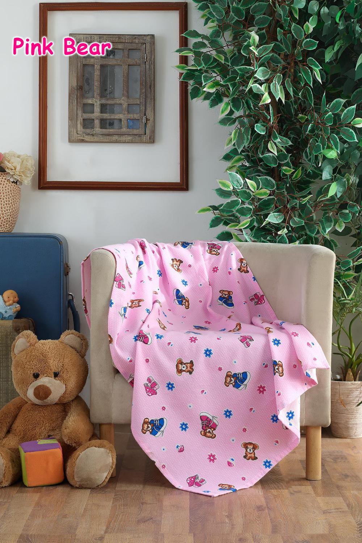 100 Cotton Baby Blanket Pink Rabbit