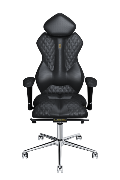 Office Chair KULIK SYSTEM ROYAL Black Computer Chair Relief And Comfort For The Back 5 Zones Control Spine