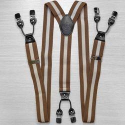Bretelles pour pantalon large (4 cm, 6 clips, marron) 53962
