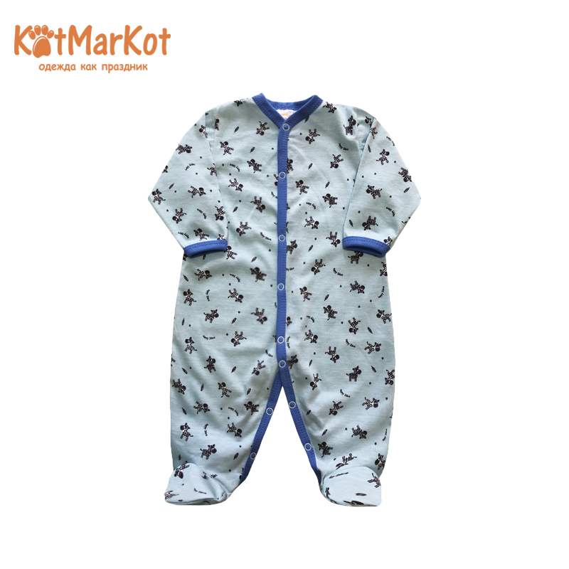 Rompers Kotmarkot 6494а overalls for newborns sandpiper baby clothes romper Cotton Baby Boys Animal