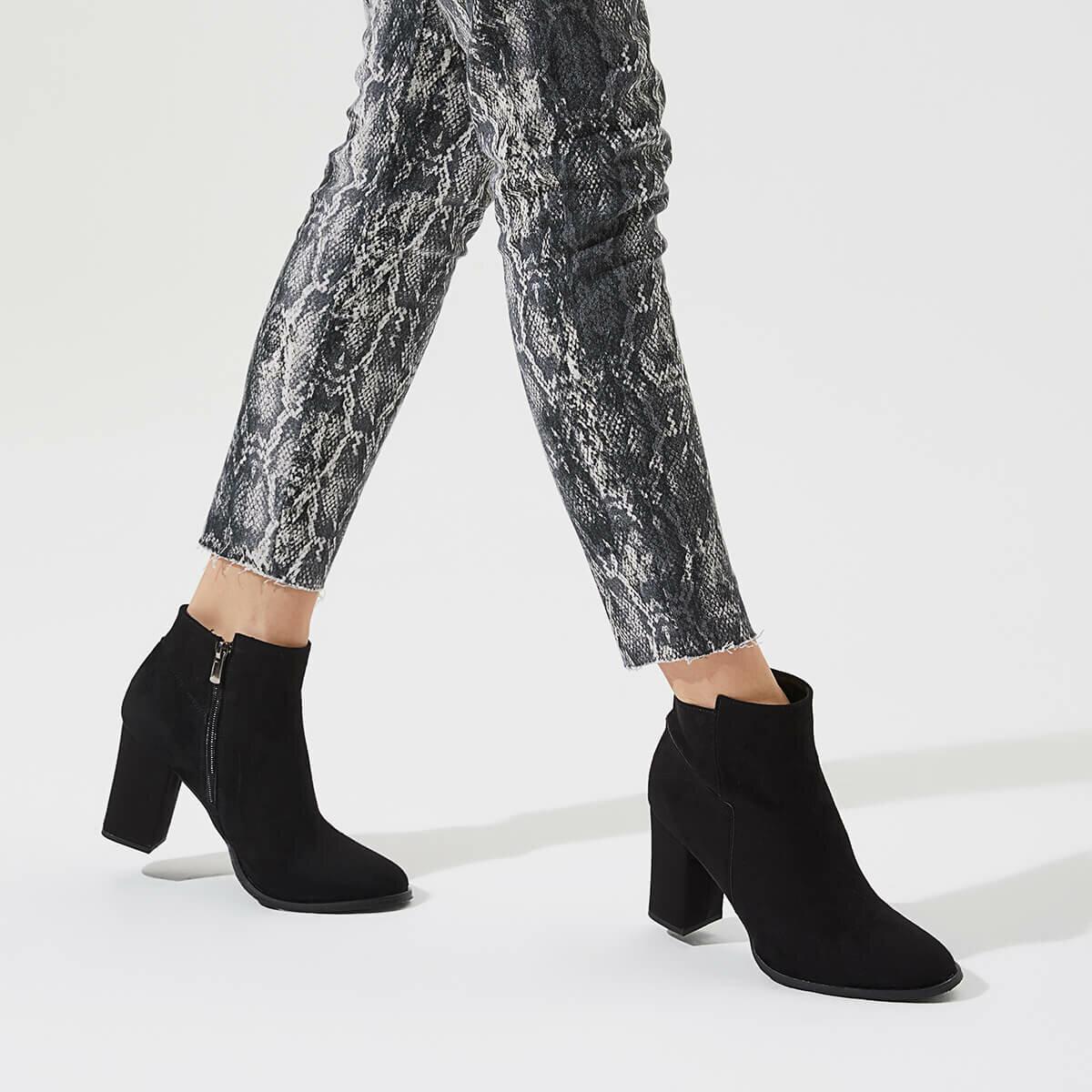 FLO WOODBINE85Z SUET Black Women Boots BUTIGO