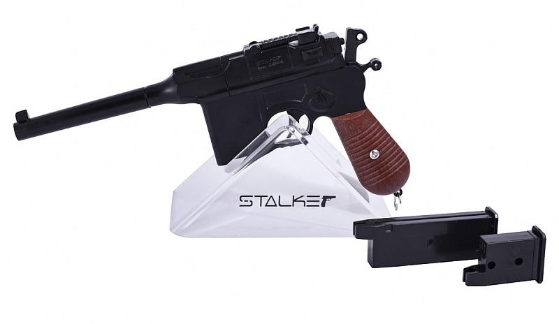 Пистолет страйкбольный Stalker SA96M Spring (аналог C96), к.6мм, мет.корпус, магазин 7шар|Пейнтбол| | АлиЭкспресс