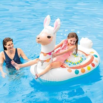 Colchoneta Flotador Hinchable Llama ALAPACA 135x112x94 cm para Piscinas Playas Niños -...