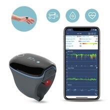Oxímetro para monitoramento de frequência cardíaca, saturação de oxigênio, para apnéia do sono, com alarme de vibração, aplicativo pc relatório wellue o2ring