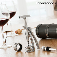 Zestaw do wina InnovaGoods Screwpull (4 sztuki) w Pokrowce na butelki wina od Dom i ogród na