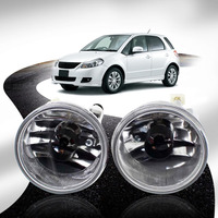 2 High Quanlity Car Styling Round Front Bumper Fog Lights Running Lamp For SUZUKI Sx4 2006 2014 Hatchback for Suzuki Aerio 02 07