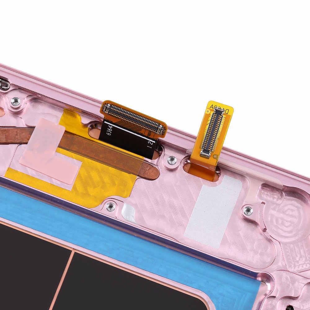 100% أوري لسامسونج غالاكسي نوت 8 9 S10/10E/10 زائد سوبر AMOLED عرض LCD شاشة تعمل باللمس عرض محول الأرقام الجمعية استبدال
