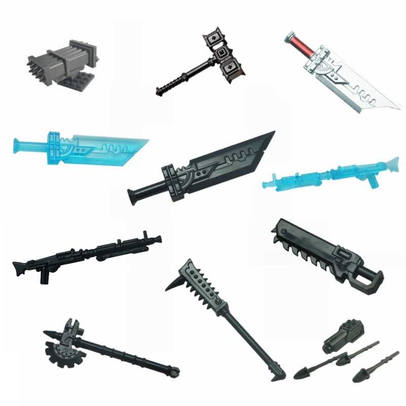 Lego Lot Of 25 Accessories Spears Swords Guns City Food Armor