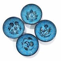4 pçs anatolian turco otomano japonês decorativo cerâmica tigelas turco pequeno dedo servindo tigelas turco feito na turquia|Tigelas| |  -