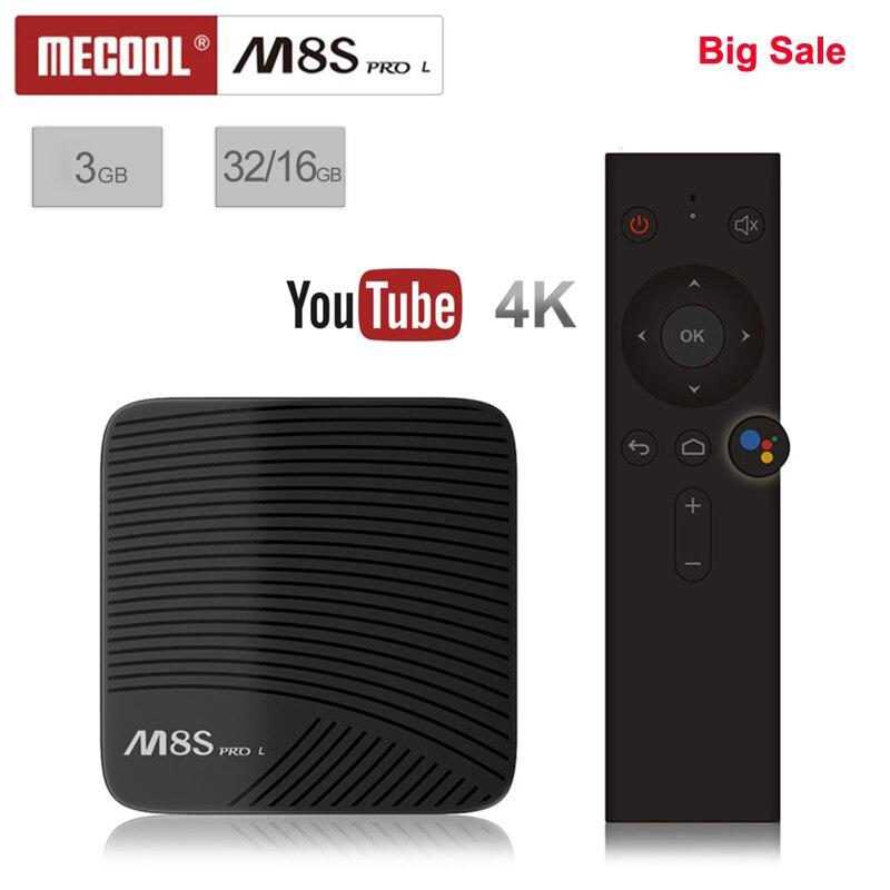 Mecool M8S PRO L TV Box Android 7.1 décodeur intelligent Amlogic S912 Cortex-A53 CPU Bluetooth 4K télécommande vocale PK X96 Mini