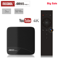 Mecool M8S PRO L TV Box Android 7.1 Smart Set Top Box Amlogic S912 Cortex A53 CPU Bluetooth 4K Voice Remote Control PK X96 Mini