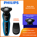 Оригинальная Philips AquaTouch S5050 электробритва для Мокрый Сухой бритья Для мужчин бритвы S5050 / 06 Водонепроницаемый точность машинка для стрижки