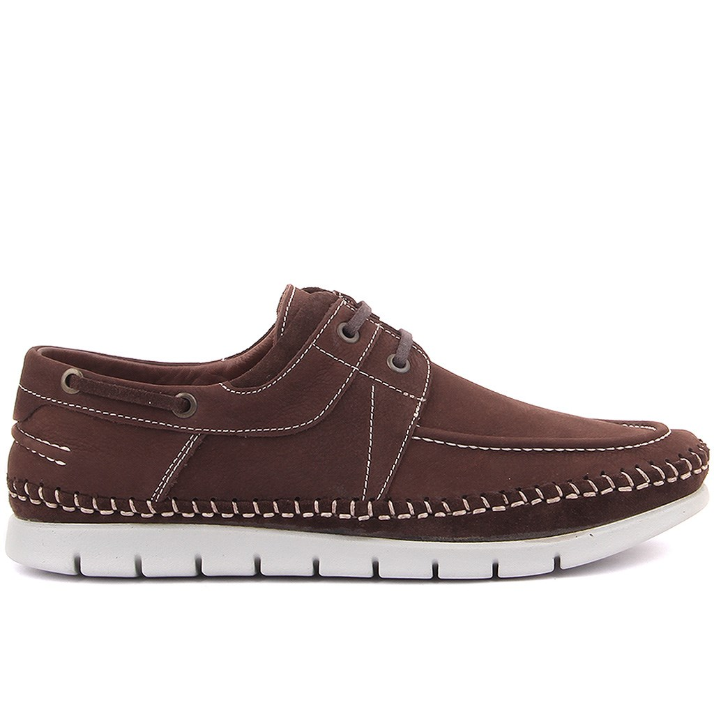 Sail Lakers-Brown Suede Nubuck Men Casual Shoes