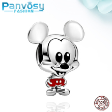 2020 New Cartoon Mickey Charm DIY Bead 925 Sterling Silver Jewelry Making Fit Pandora charms silver Original Bracelet Gifts