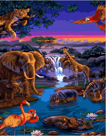 Painting By Numbers GX 34380 Animal World 40*50