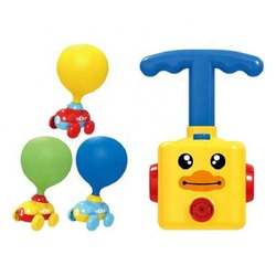 Power Balloon Launch Tower Toy Puzzle Fun Education Inertia Air Power Balloon Car  Science Experimen Toy for Children Gift
