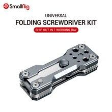 SmallRigพับไขควงชุดชุดประแจชุดเครื่องมือแบบพกพา 4 Allen Wrenches 2.5, 3, 4, 3/16, 1 ไขควงแบน 2495
