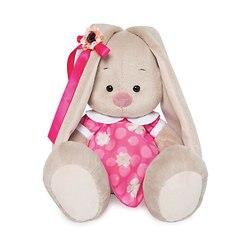Soft toy Budi Basa Bunny pink dress with white collar