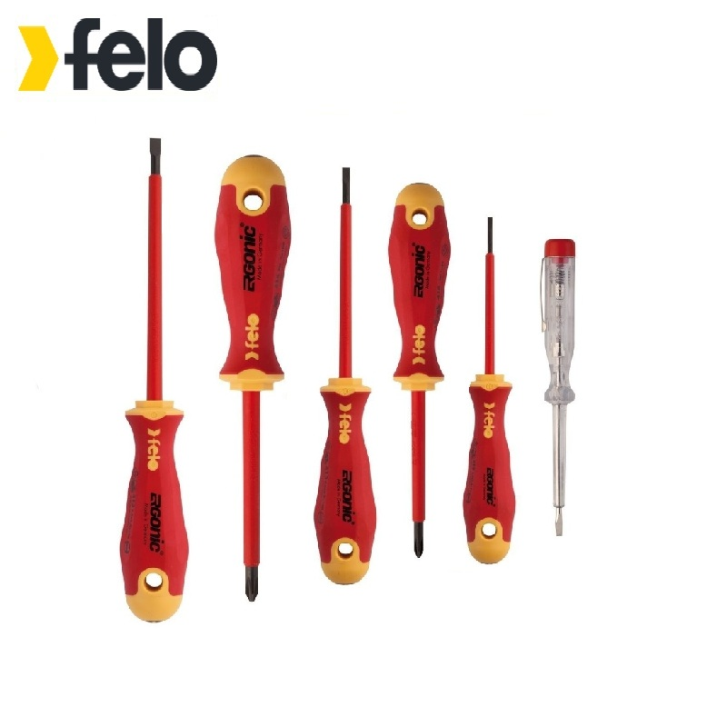 Felo Ergonic dielectric screwdriver set with voltage tester 6 pcs Used for installation and dismantling works with fasteners und 6 90degree 0 3mm diamond bits with high quality used for cnc router machine