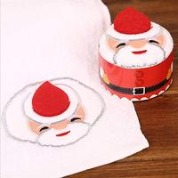 Christmas Cupcake Cotton Towel Super Soft Hand Towel New Year Decoration Christmas Tree Santa ClausApple Candle Kids Gifts