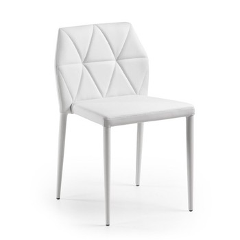 Chair LARBI, upholstered white