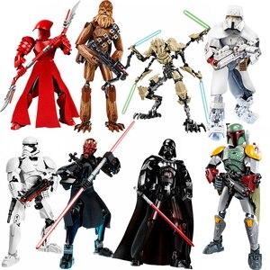 Для lepinings, Звездные войны, Дарт Вейдер, Maul, Praetorian Guard Storm Troopers Boba Jango Fetts, фигурки, строительные блоки, игрушки для детей