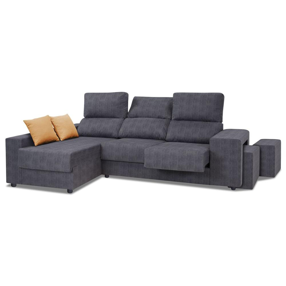 Sofa Chaise Longue, 3 Seater, CLIMB A DOMICILE, Color Grey, Ref-125
