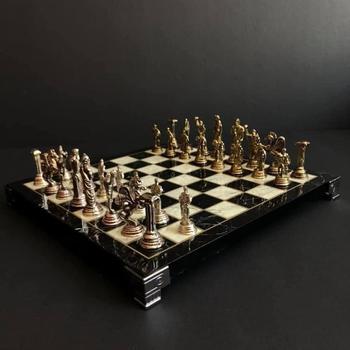 Szachy ręcznie robione szachy rzymskie szachy Vintage szachy luksusowe szachy Retro szachy ręcznie robione szachy niestandardowe tanie i dobre opinie Devrizaman Metal CN (pochodzenie)