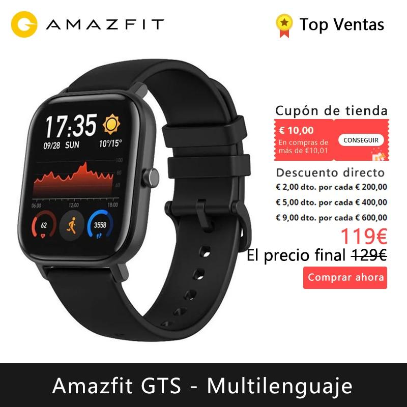 Amazfit Gts Smart Watch (Reloj Inteligente Mujer Hombre Gps Bluetooth Deporte Exterieur Android Ios Reloj Xiaomi) [Versión Global]