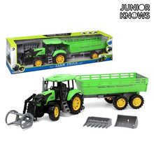 Tractor con Pala y Remolque Junior Knows 1452()