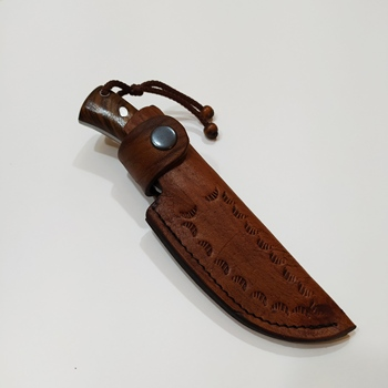 Handmade Forged Steel Hunting Knife, Walnut Handle, Cowhide Sheath, 4 mm, Hand Tools, Wrought Steel, Personalized Gift, Knives 5