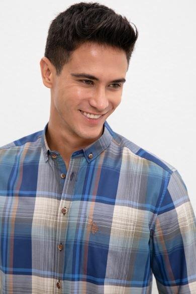U.S. POLO ASSN. Green Plaid Regular Shirt