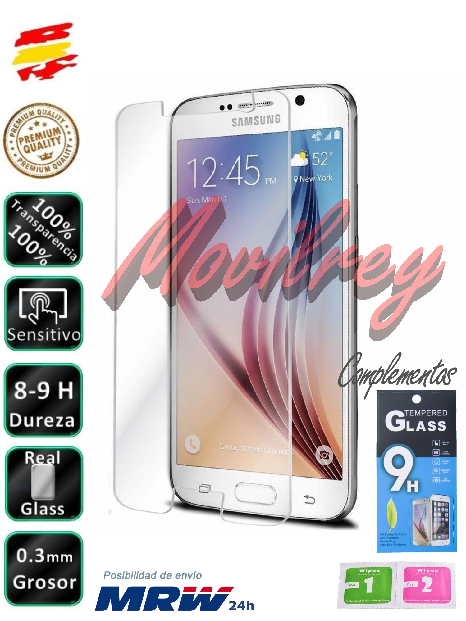 Protector Samsung Galaxy A3/A5/A50/J3/J5/J7/2016/2017 2017 Crystal Tempered Screen Vidrio Mobile