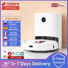 código promocional (-25€):08ESOW25 ROIDMI EVE Plus-Robot aspirador con fregona inteligente, aspiradora con recolección de polvo, compatible con asistente de Google, Alexa Mi, Control de la aplicación en casa