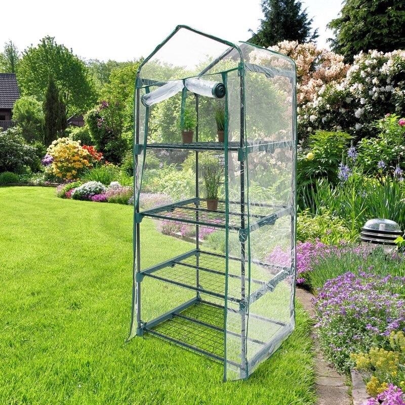 Gardiun Invernadero 69 cm x 49 cm x 160 cm - Kig12137 Mini invernadero cobertizo jardín invernadero exterior hogar aislamiento plantación invernadero 3 tamaños