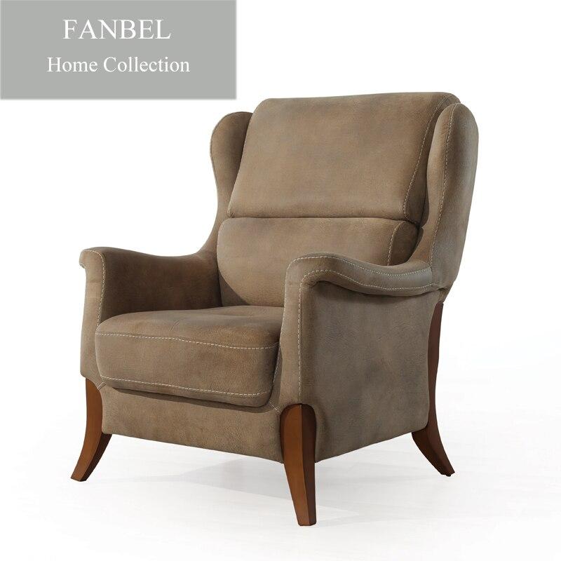 FANBEL мебель гостиная одноместный диван кресло для отдыха люкс массив бука алькантара ткань IMOLA