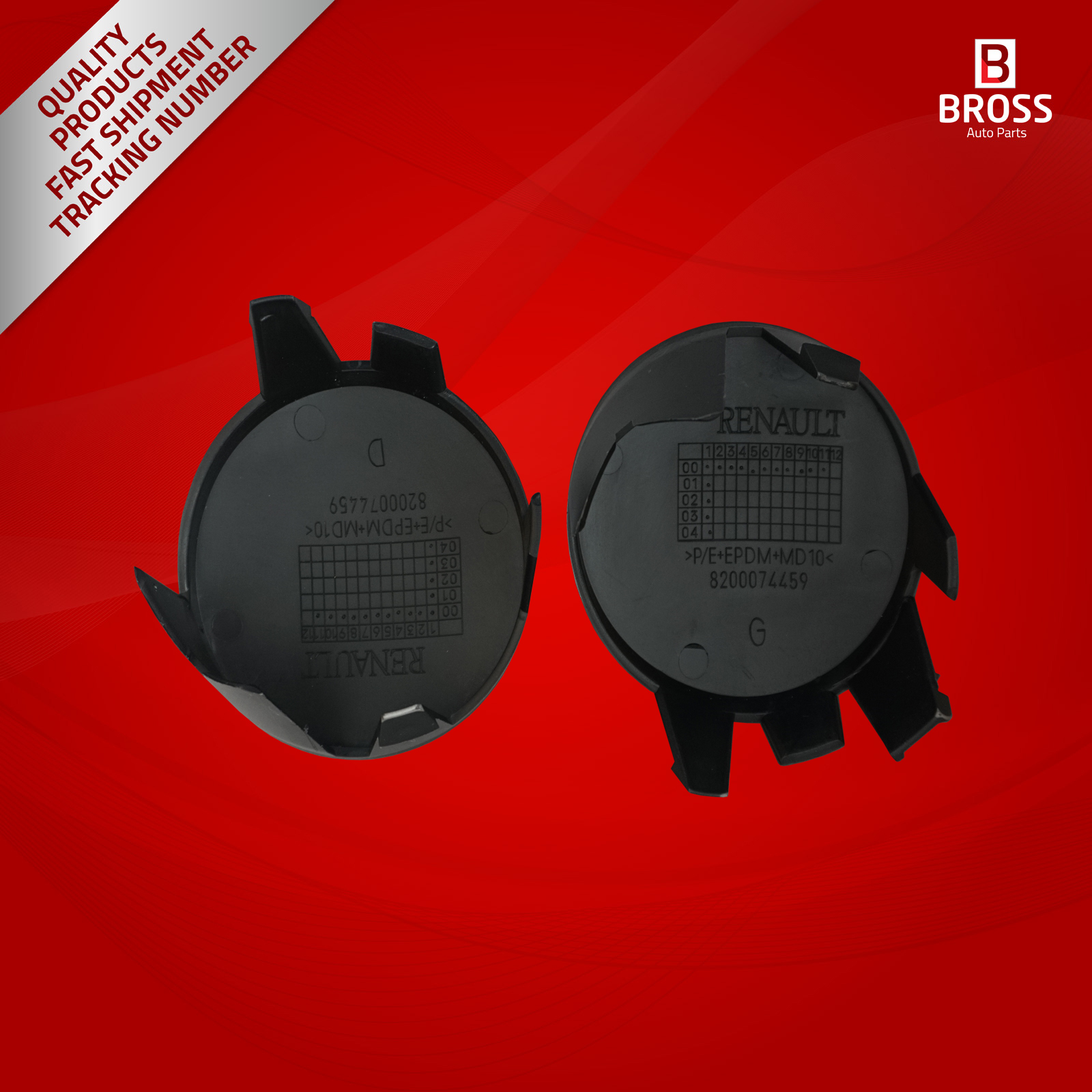 Bross BSP603 2 Pieces Fog Lamp Light Hole Cover Cap Left And Right For Clio MK2 1998-2006